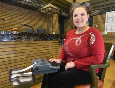 Court reporter Maria Schultz retires