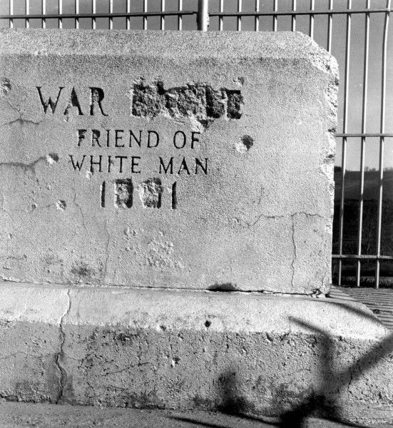 War Eagle stone defaced