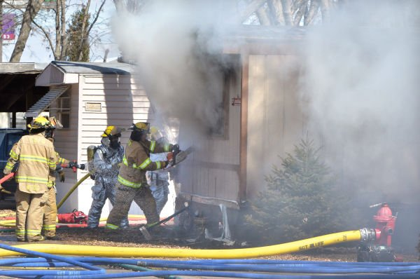 Sgt. Bluff mobile home fire