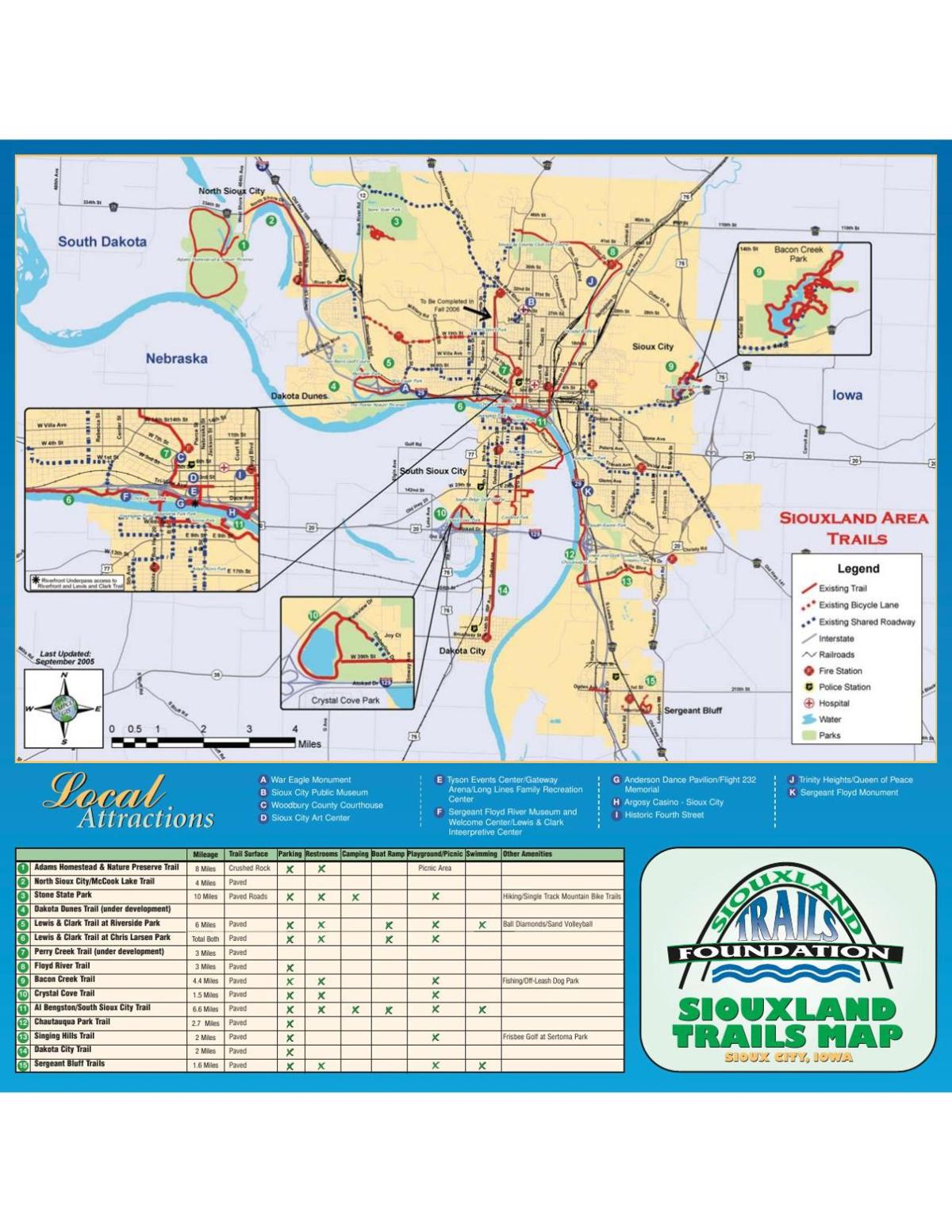 Click here for a map of Siouxland trails