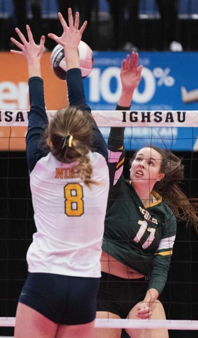 Gehlen Catholic vs Burlington Notre Dame state volleyball