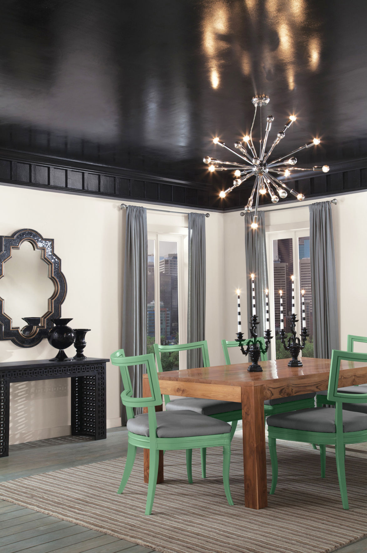 The Dark Side Of Decorating Touch Of Black Adds Allure To Decor
