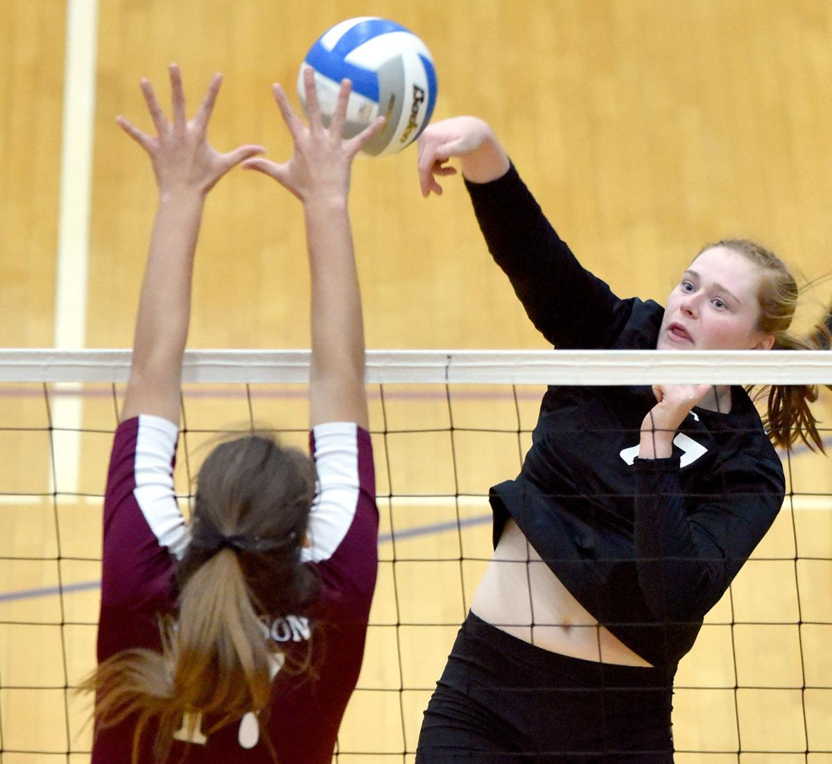 Dakota Valley vs Madison state volleyball