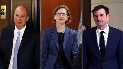 Gordon Sondland, Laura Cooper and David Hale