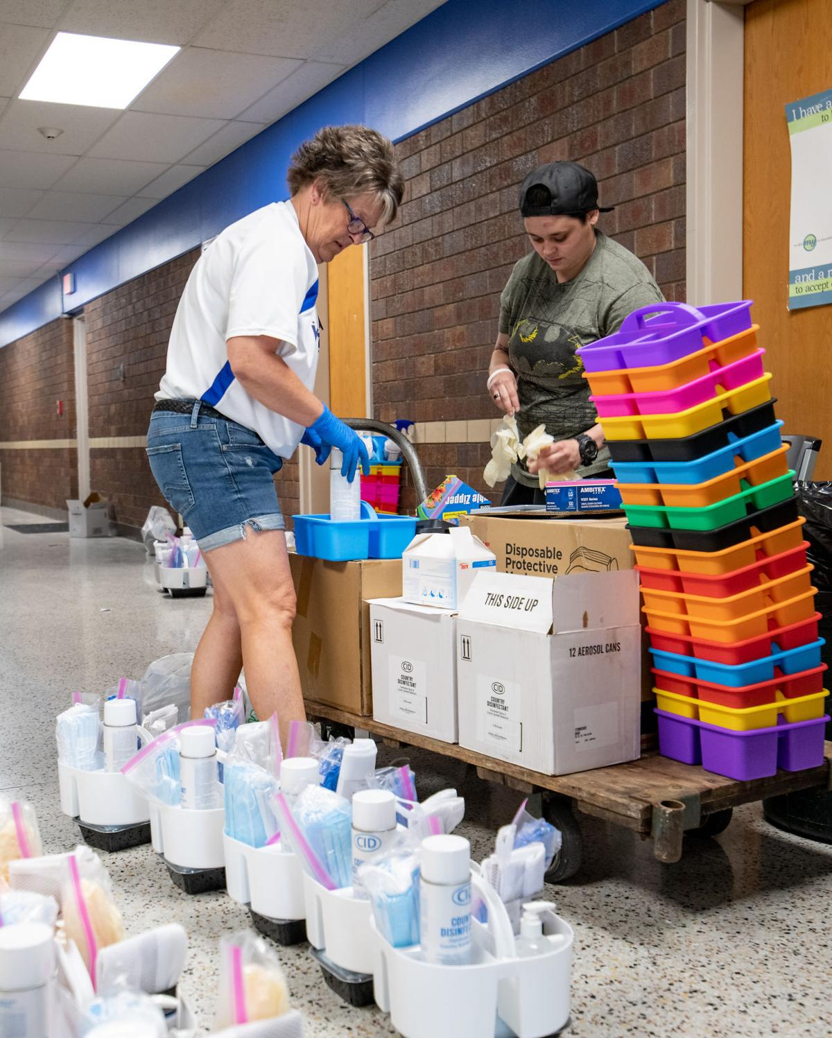 #2 Sanitizing Woodbury Central before students resume school amid COVID-19