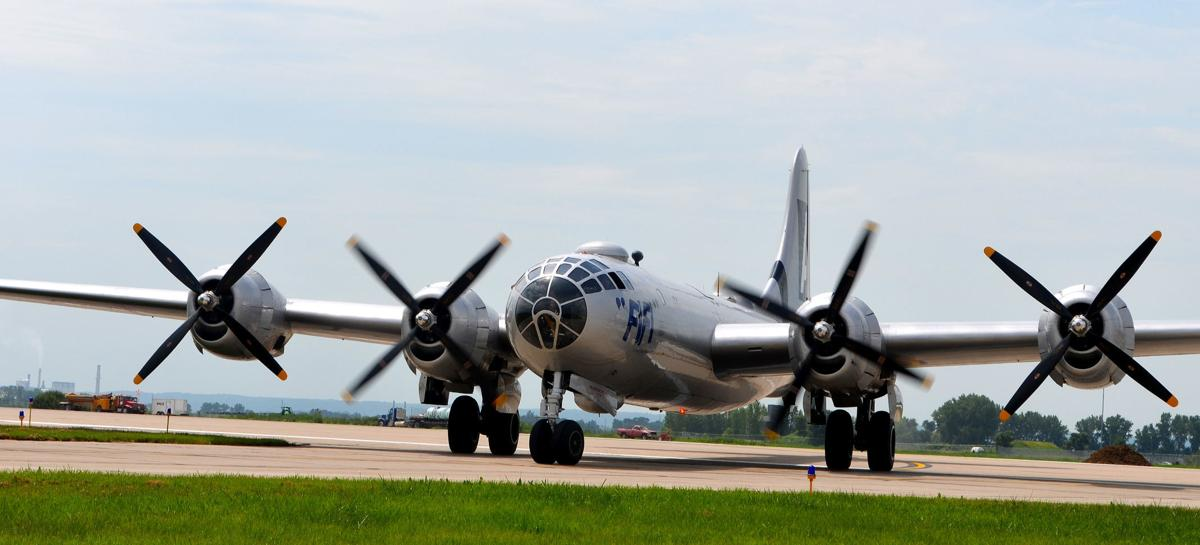 b-29 taxiing on the runway