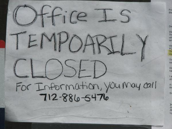 Blencoe Post Office sign
