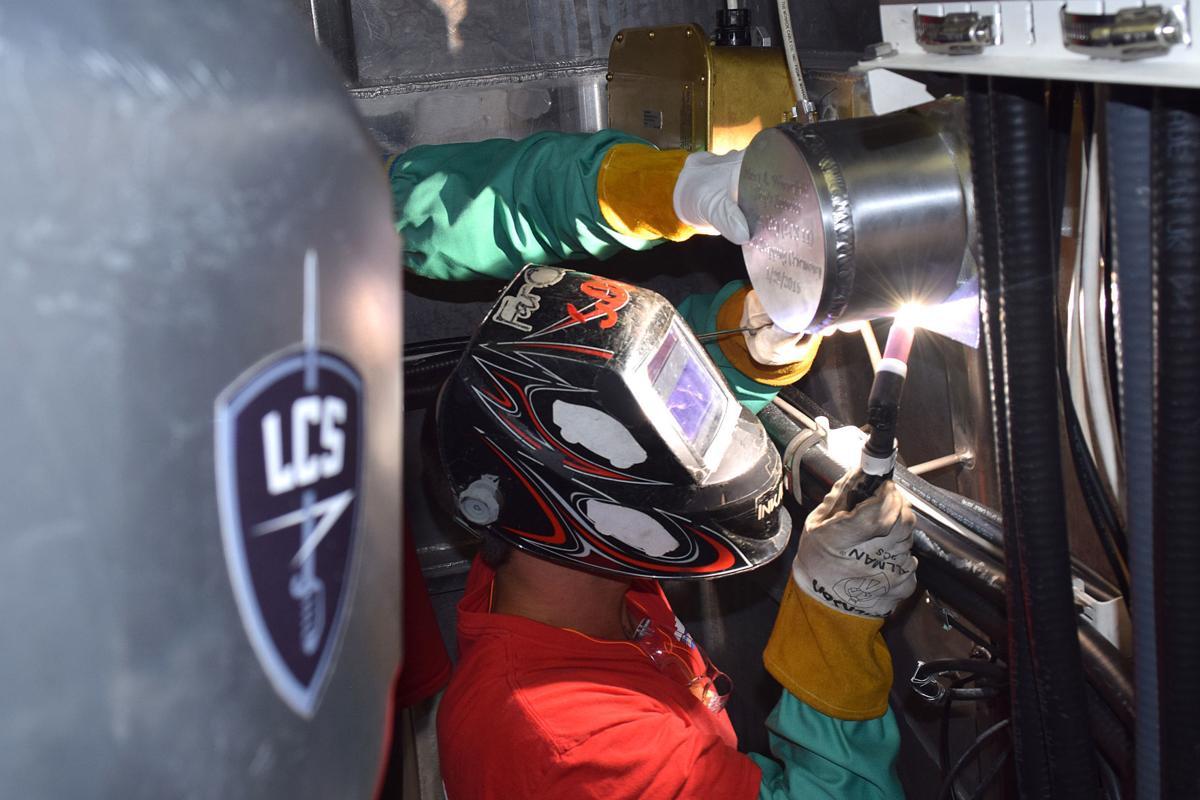 USS Sioux City welding