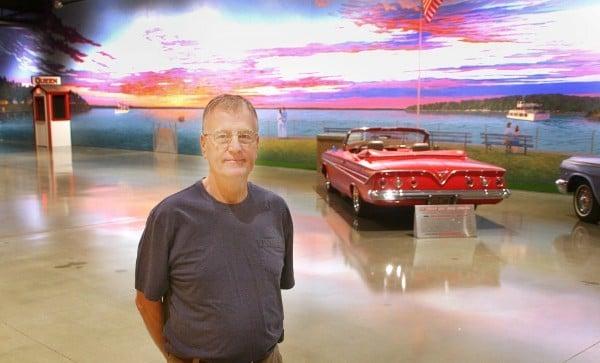 Sunset photo car museum