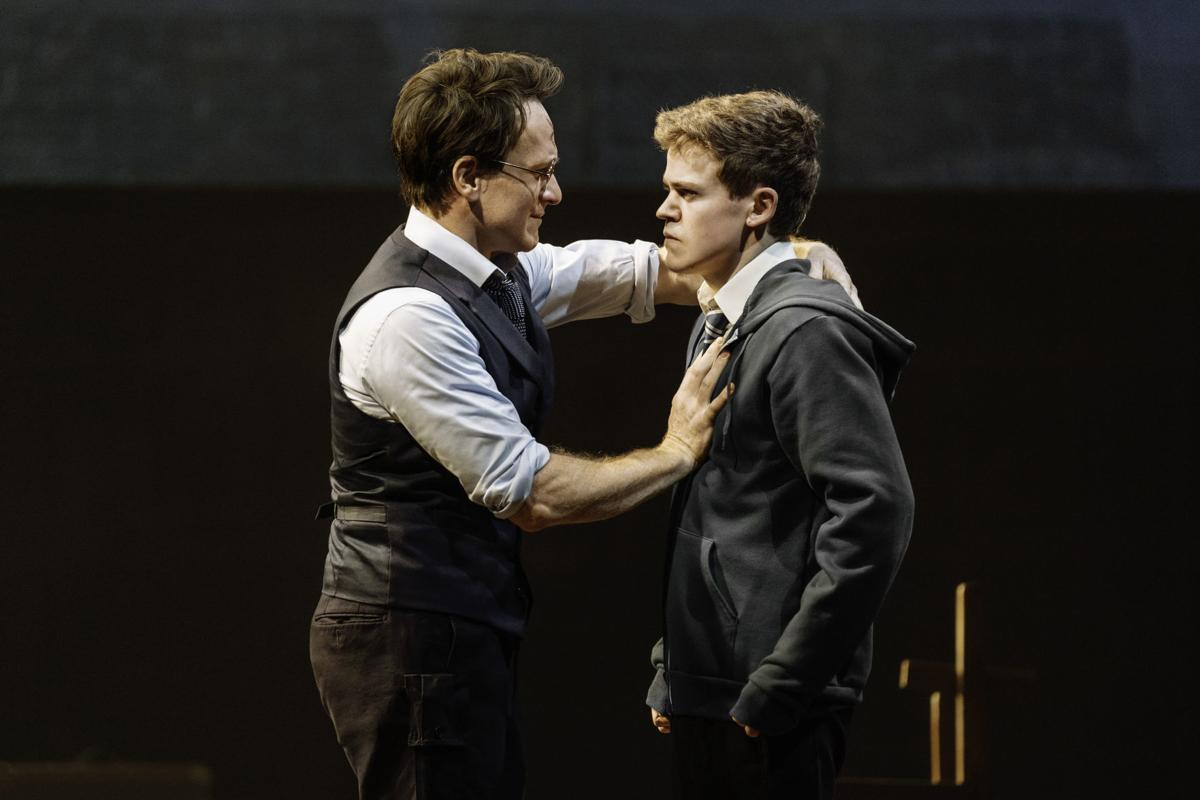 """Jamie Parker, left, and Sam Clemmett play Harry and Albus Potter in """"Harry  Potter and the Cursed Child."""""""