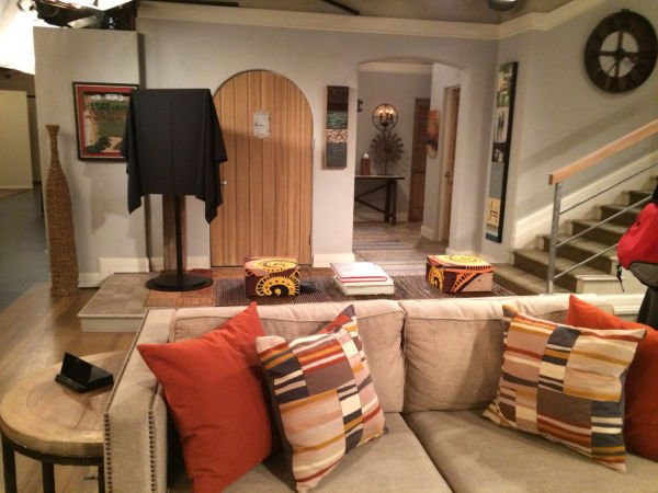 Photos: A visit to the set of 'Two and a Half Men' | Entertainment on ghost whisperer house design, modern family house design, greek house design, family guy house design,