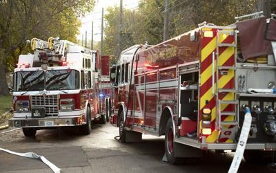 Fire trucks stock