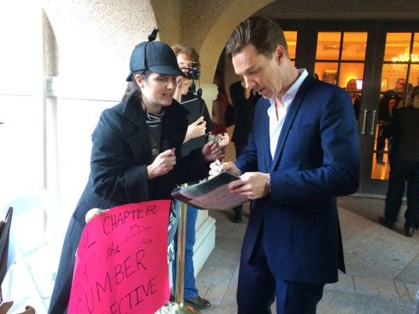 Cumberbatch and fan