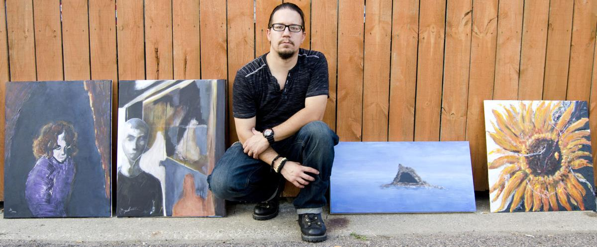 Josh Beckwith showcases his art