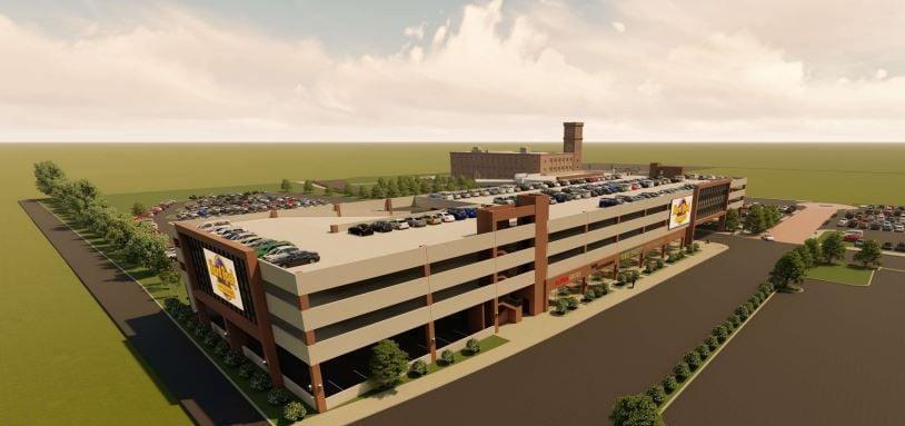 Hard Rock parking ramp rendering