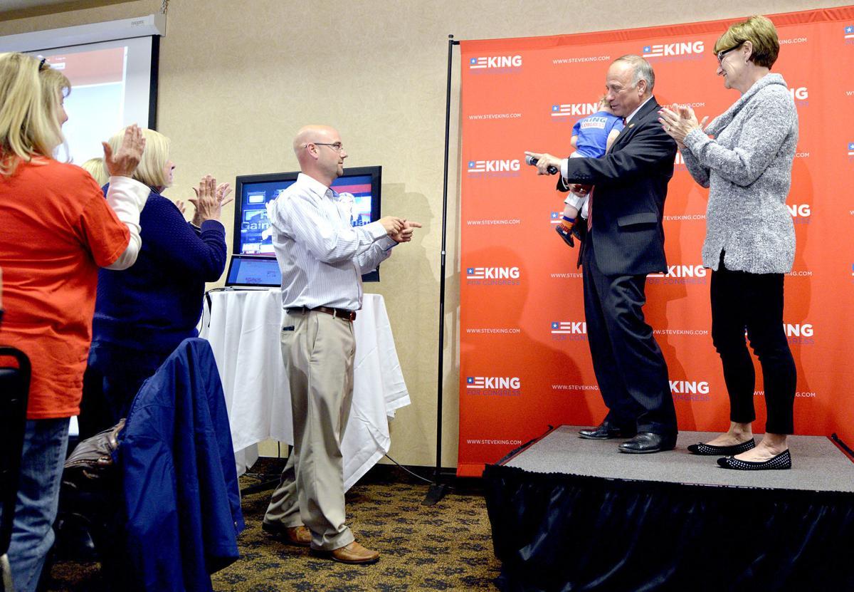 Steve King election watch party (Jeff King lead photo)