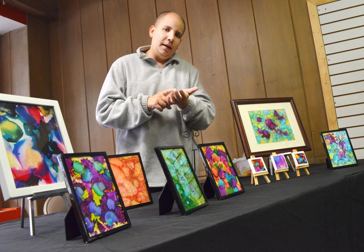 Siouxland Artists set up for Holiday Show