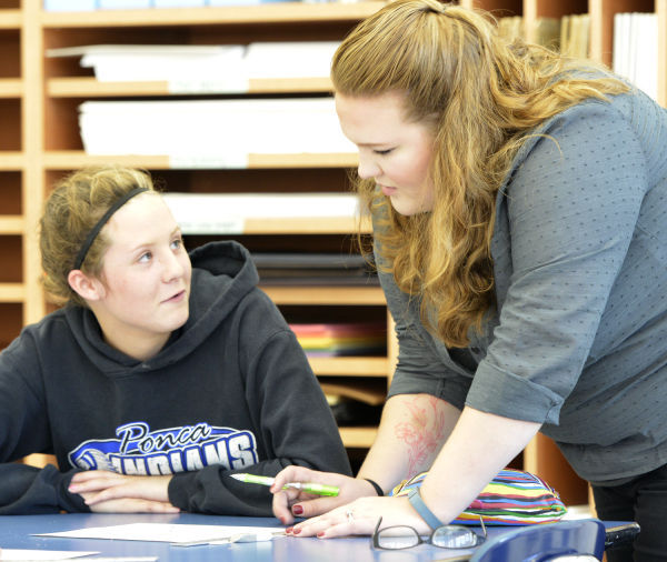 Ponca first-year teacher Lisa Wenger