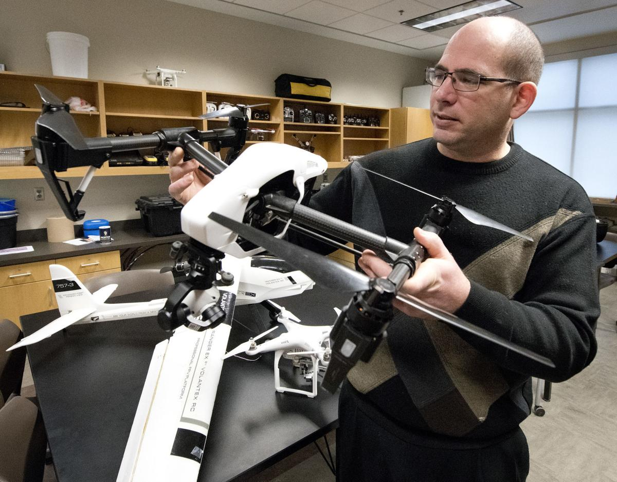 Morningside College drones Rich Crow