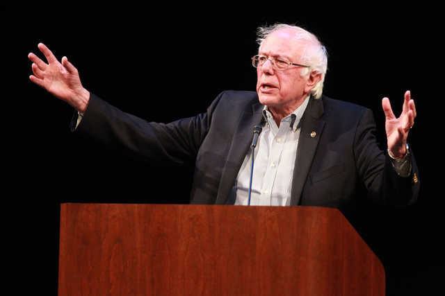 Bernie Sanders in Iowa City