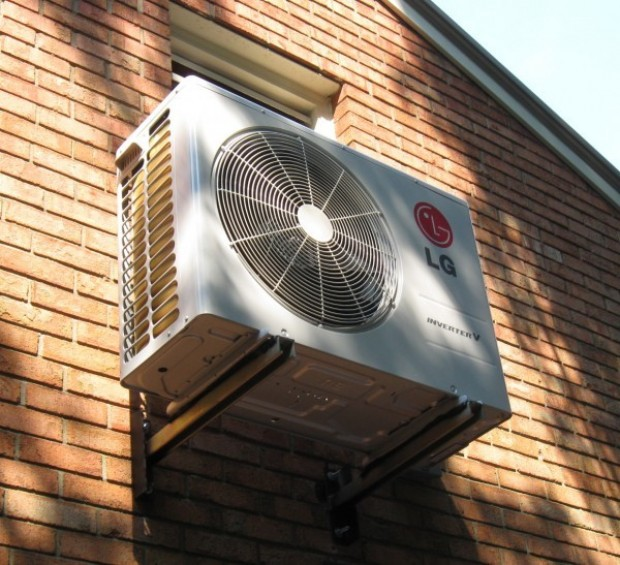 Mini Split Air Conditioning System Cools Second Floor Rooms
