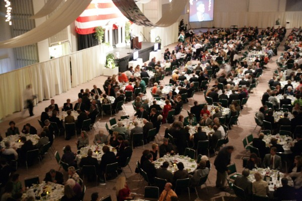Chamber dinner overhead