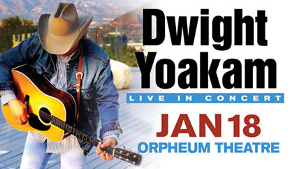 Dwight Yoakam will perform at the Sioux City Orpheum Theatre on January 18.
