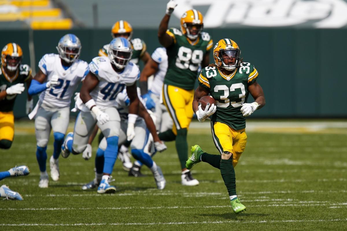 Aaron Jones Big Day Helps The Green Bay Packers Beat Detriot Area Pro Sports Siouxcityjournal Com