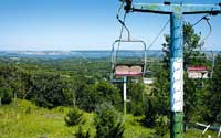 Rusting ski lift remains as sign of once-lofty plans for Devils Nest