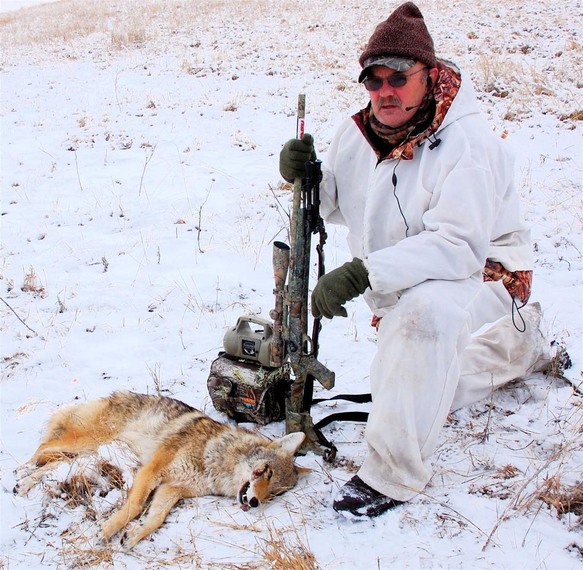 Gary Howey with coyote