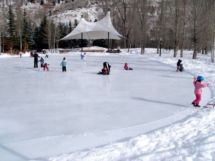 Cone Park ice rink depicted