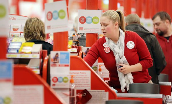 Target checkout line