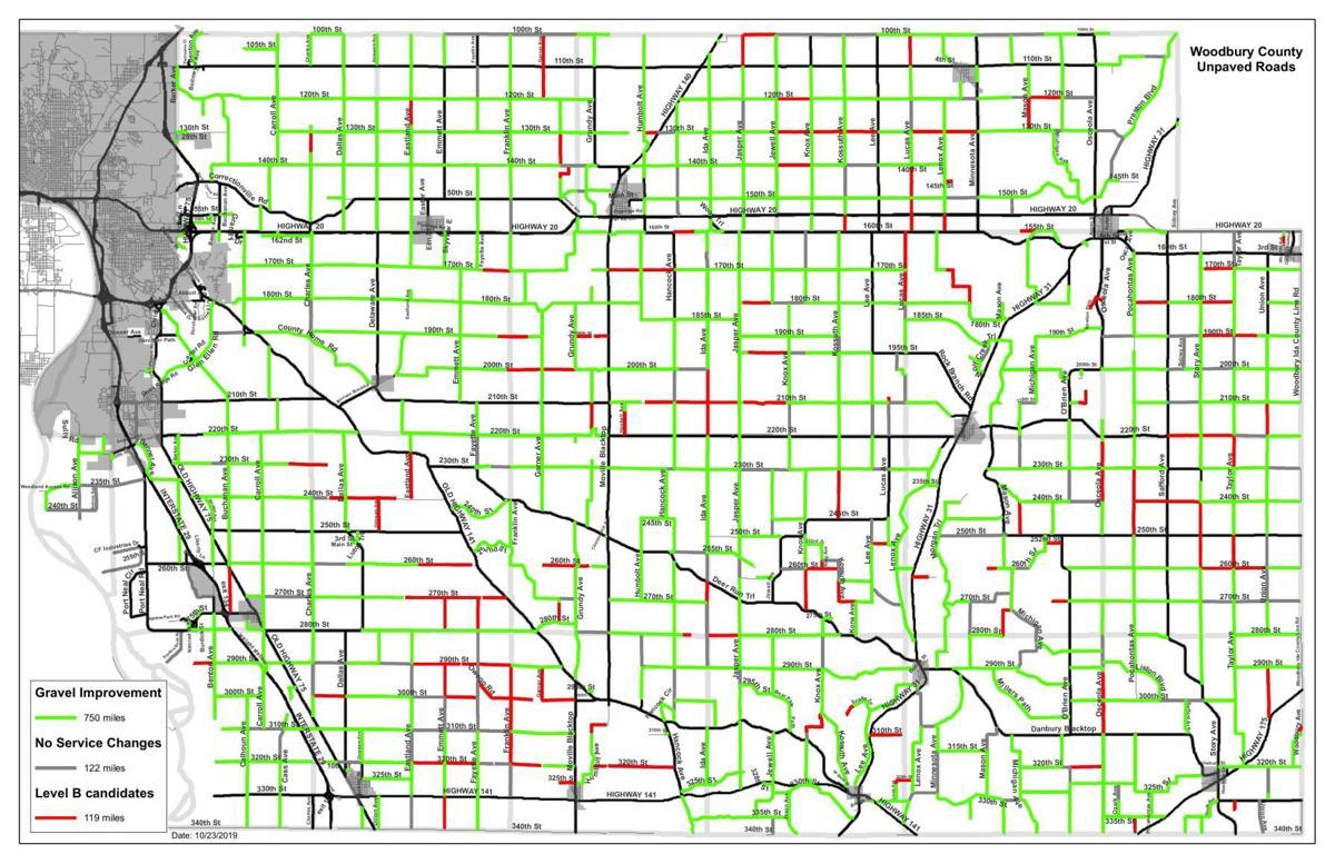 Gravel roads map