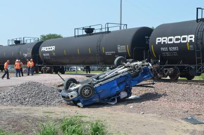 Train-pickup crash