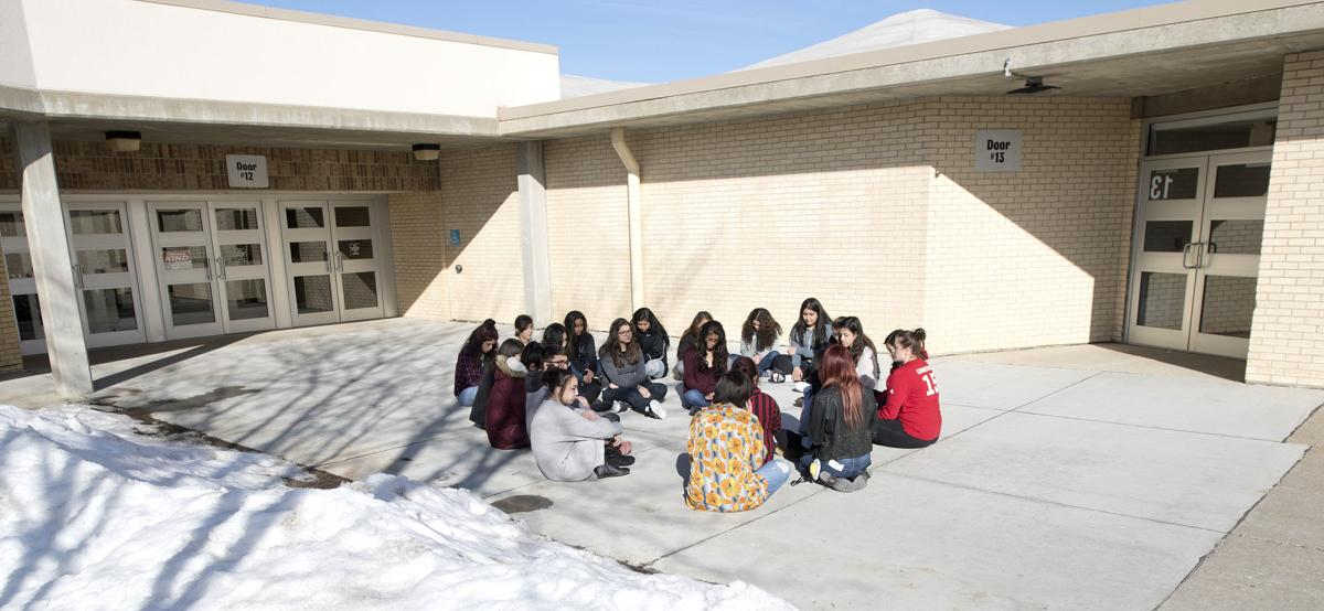 School shooting protest at South Sioux City High School