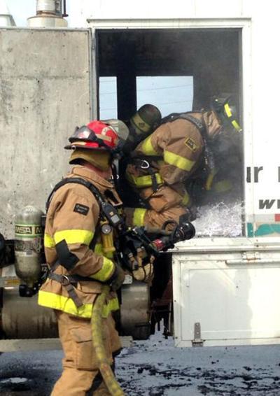 Paper truck fire