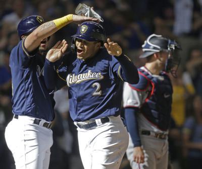 Twins Brewers Baseball