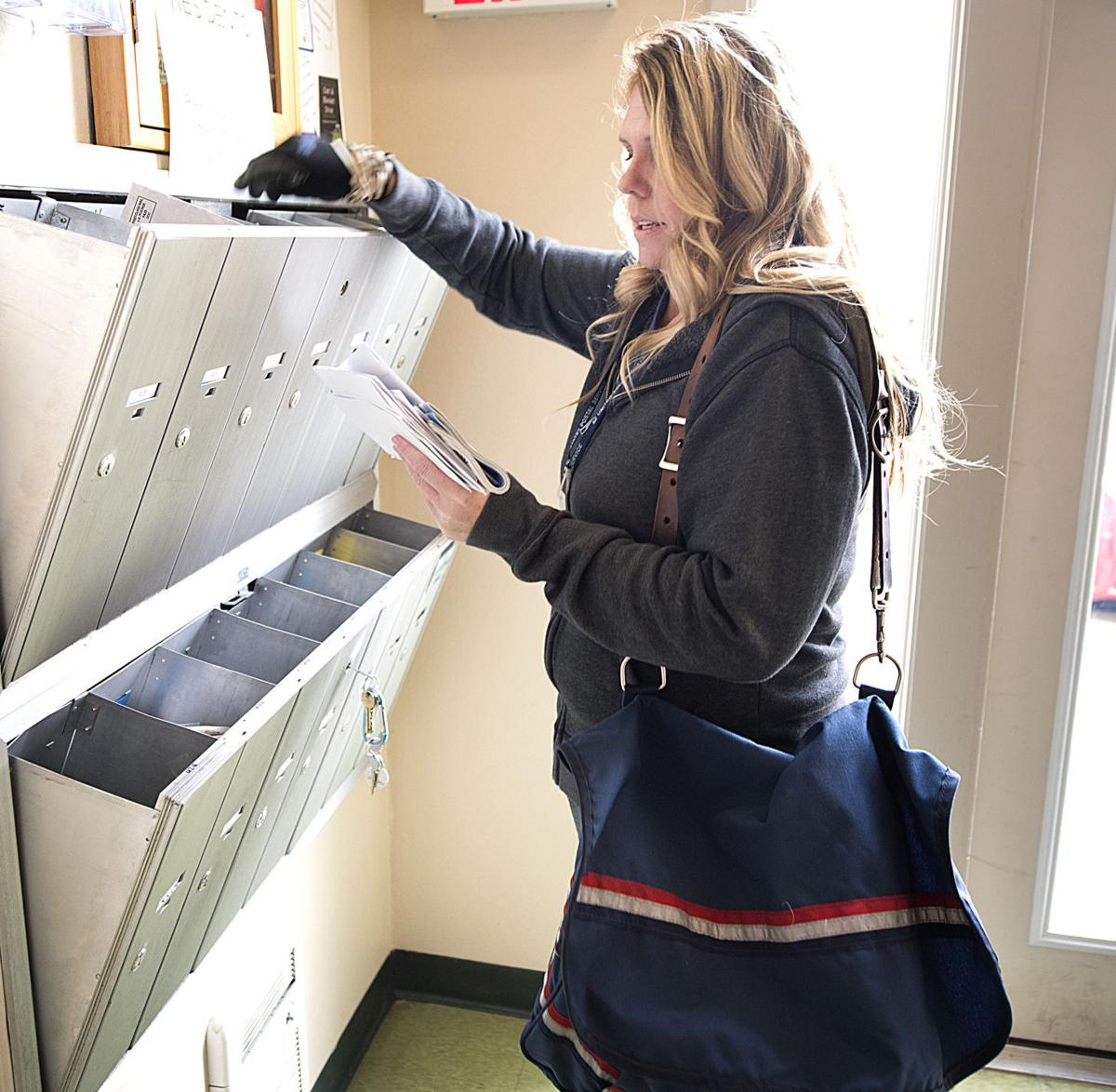 Mail carrier Traci Launsby
