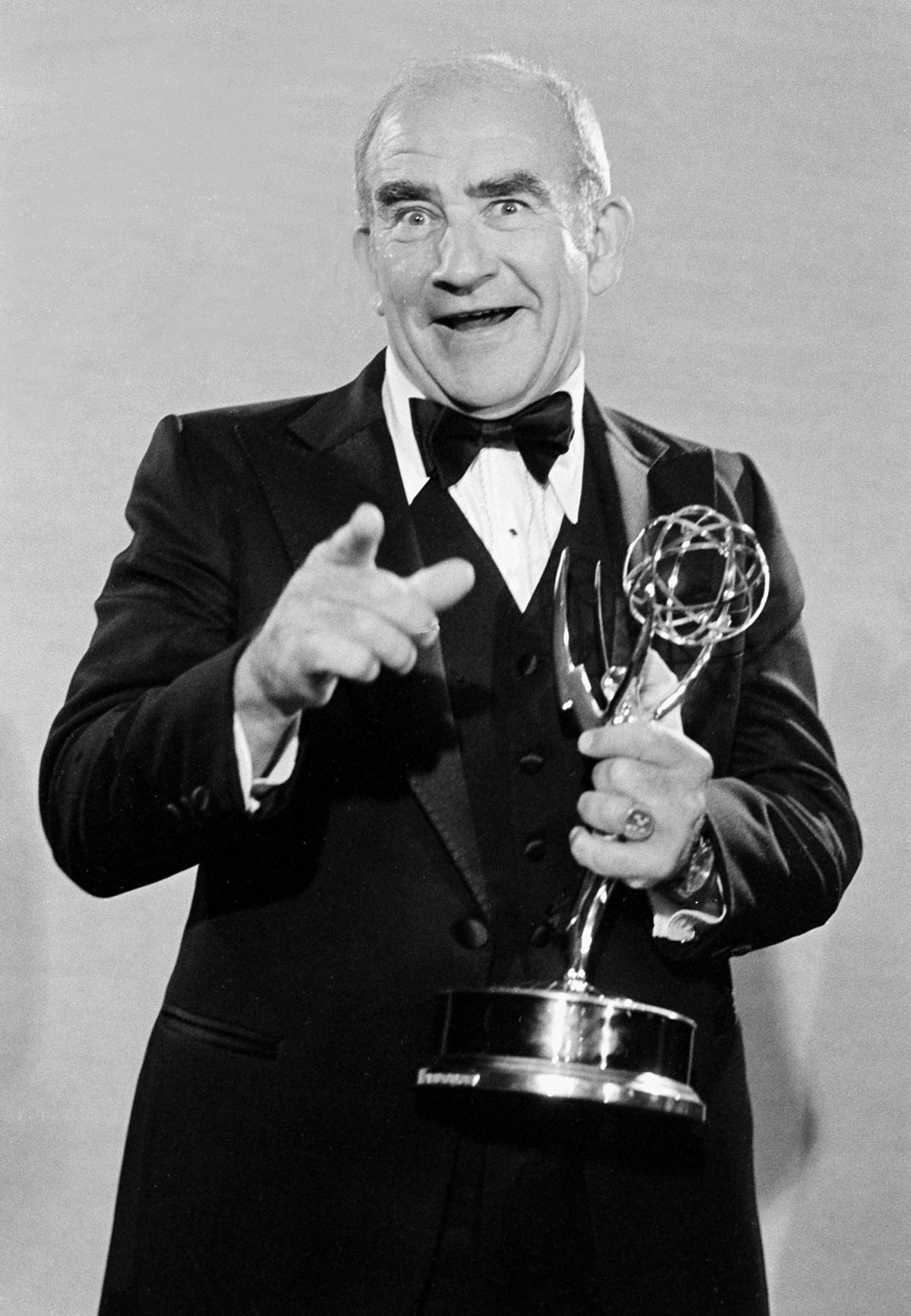 """Ed Asner, with 8. Like Leachman, he won several of those for his time on """"The Mary Tyler Moore Show."""""""
