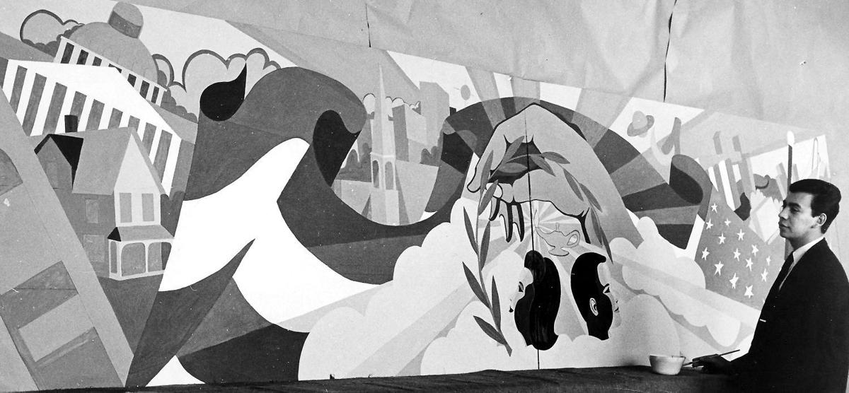 Arthur Amiotte mural