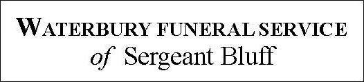 Obit-Waterbury Sgt Bluff Funeral Home logo
