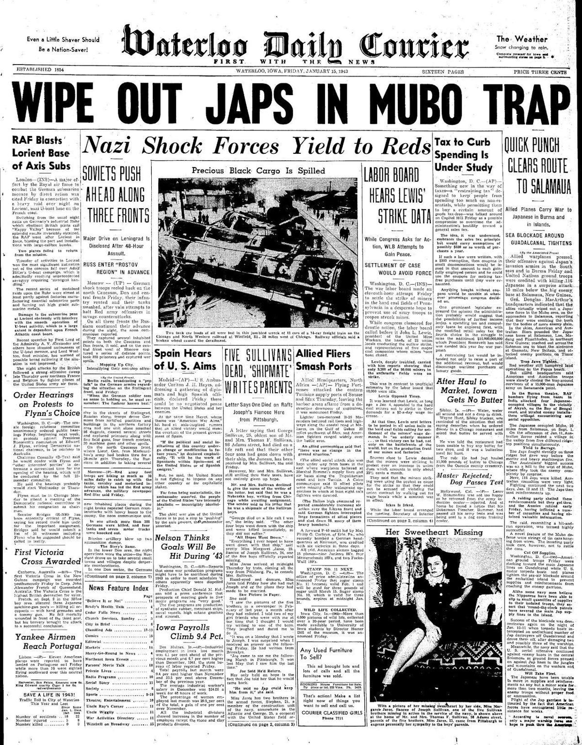 Courier Jan. 15, 1943