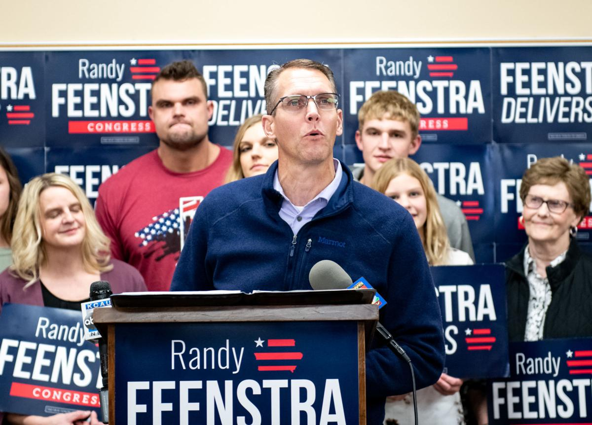 Sen. Randy Feenstra watches election results