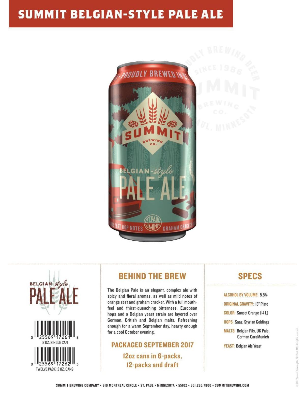 Summit Belgian-Style Pale Ale statistics