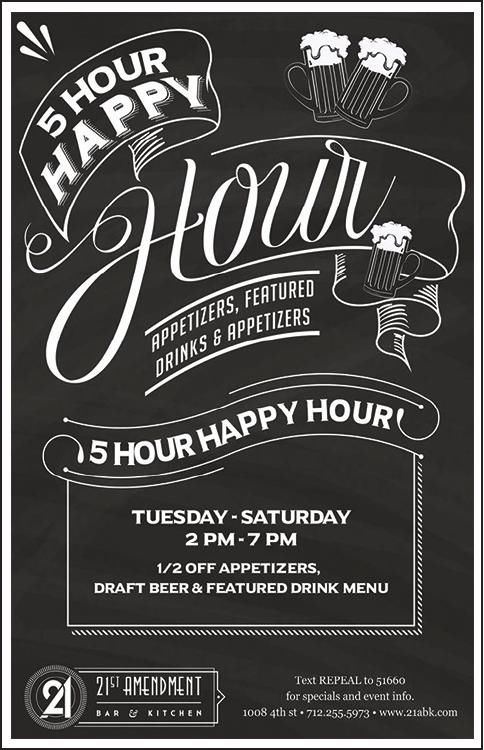 5 Hour Happy Hour!