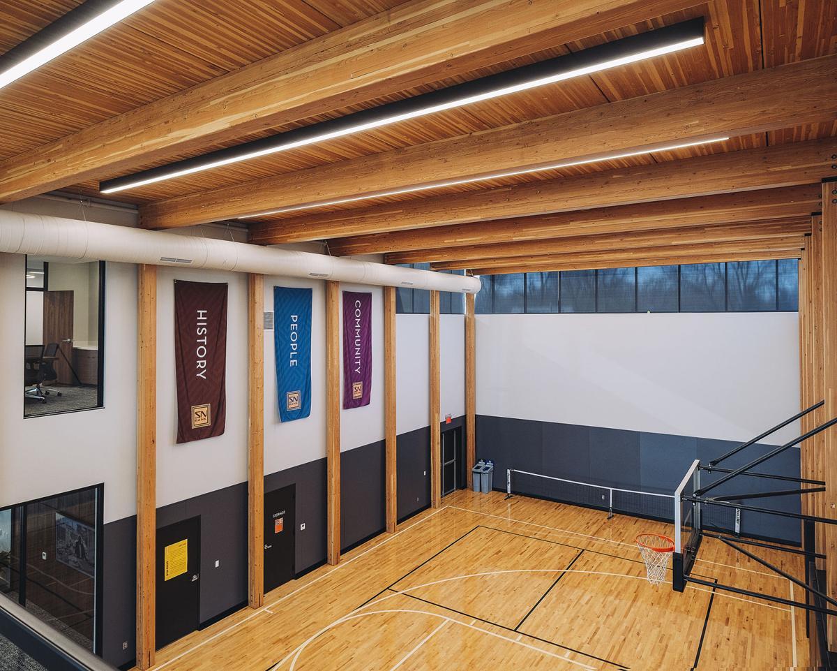 State Nebraska Bank & Trust basketball pickleball court