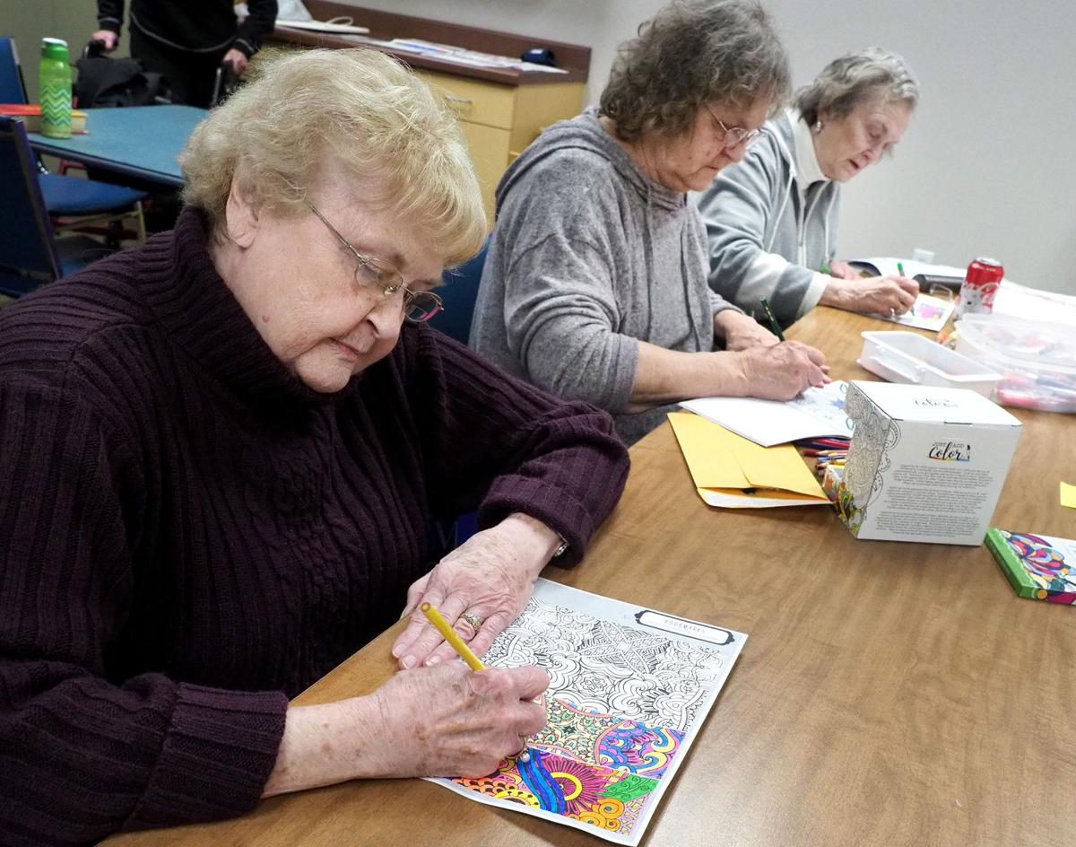Coloring Corner at the Siouxland Center for Active Generations