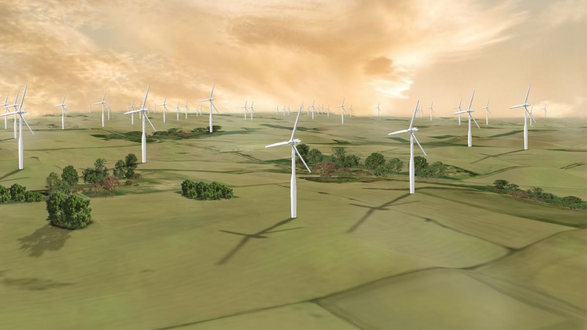 Rattlesnake Wind Farm Rendering