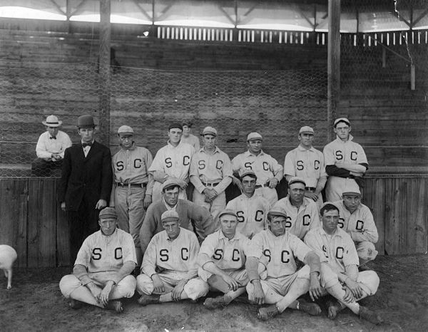 Sioux City professional baseball team in 1908