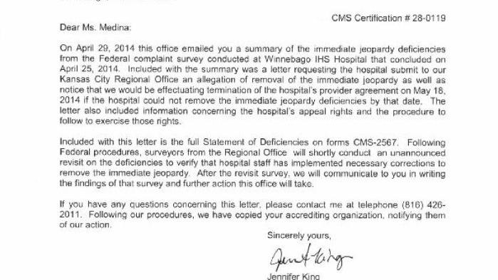 May 2 2014 Letter From Centers For Medicare Medicaid Services To